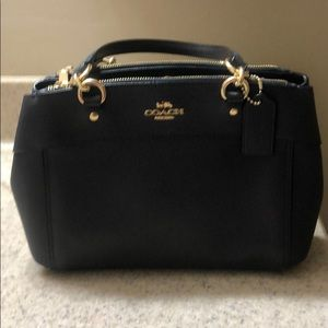 Navy blue coach bag